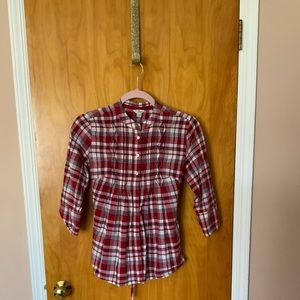 Guess red plaid shirt